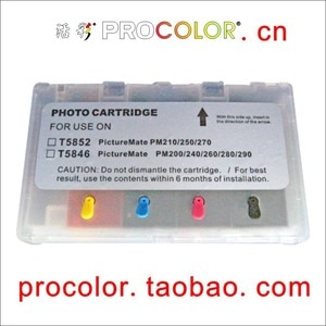 PROCOLOR Newest T5852 Refil ink cartridge with ARC chips for epson PictureMate PM 70 210 235  250 270 310 410 245  215 PM-215