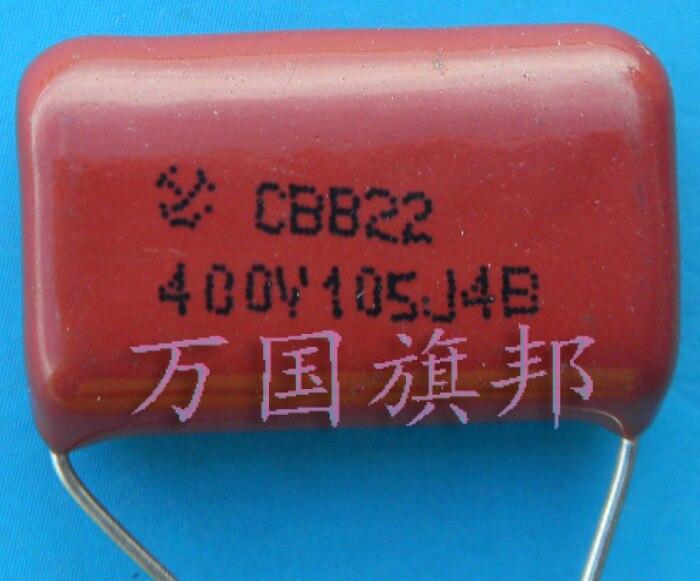 ¡Entrega Gratuita! Condensador de película de polipropileno metalizado CBB22 400 v 105 1 uf