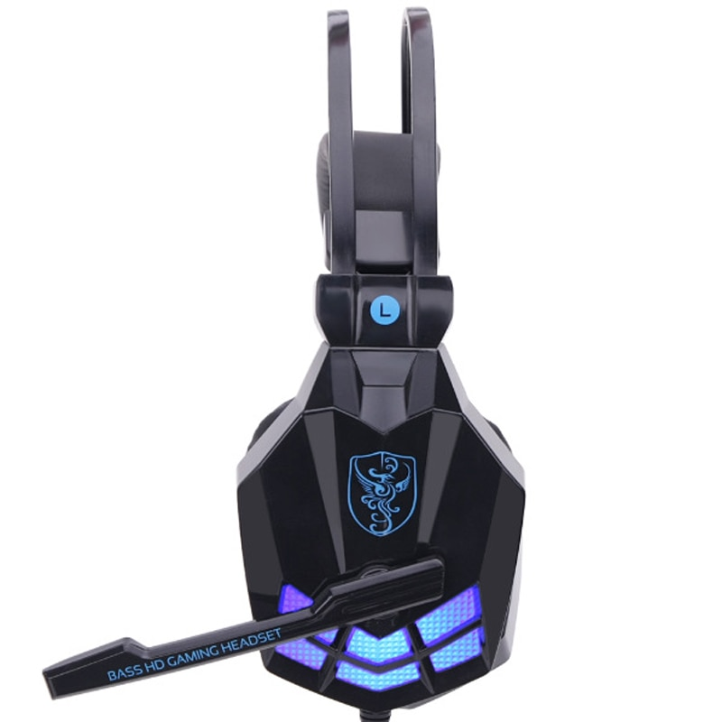 Auriculares estéreo para juegos SY850MV para Gamer, auriculares con diadema y micrófono, luz LED para PC y Escritorio