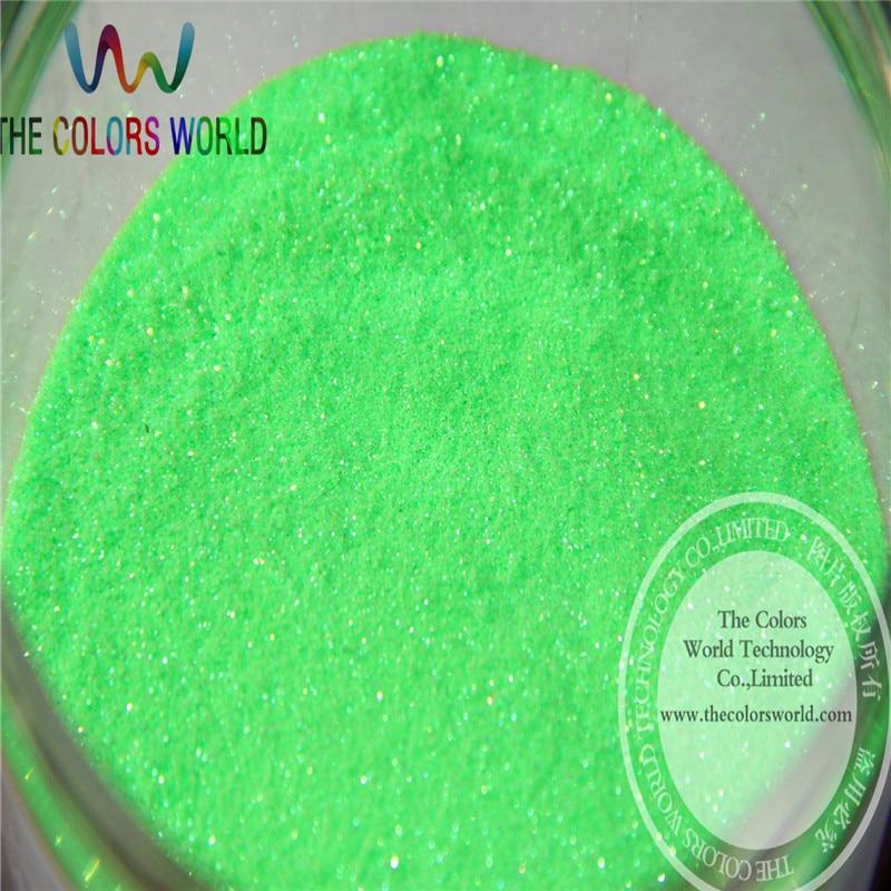 TCH1739 atacado 0.1mm 004 tamanho Shinning Rainbown Cor fino Pó Glitter Iridescent Verde Neon