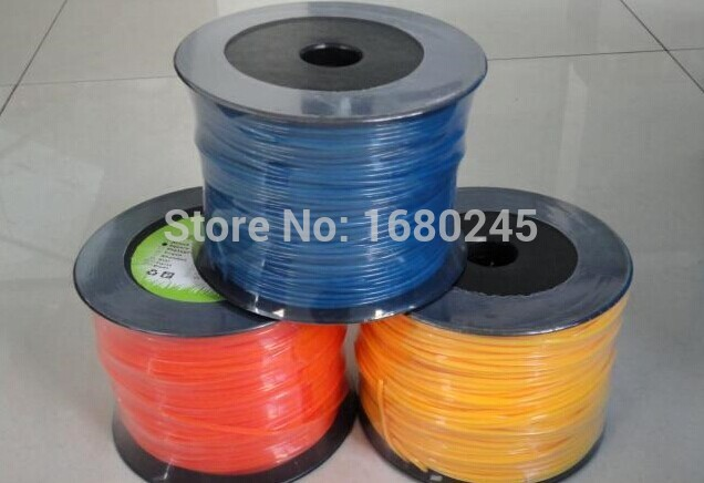 Mowing line rope nylon  line of Square&round 3.0mmX 90m Trimmer Line Spool Whipper Snipper Cord  Grass trimmer head Nylon line enlarge