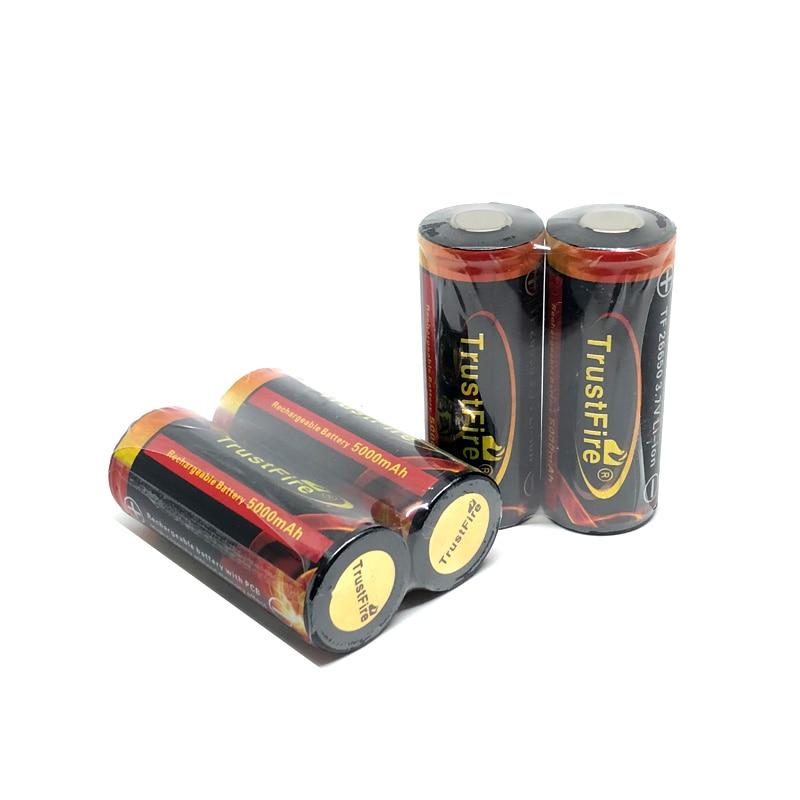 Baterias de Lítio Recarregáveis da Bateria com Pwb para Lanternas Trustfire Colorido Mah 26650 Protegidas Tocha 3.7 v 5000