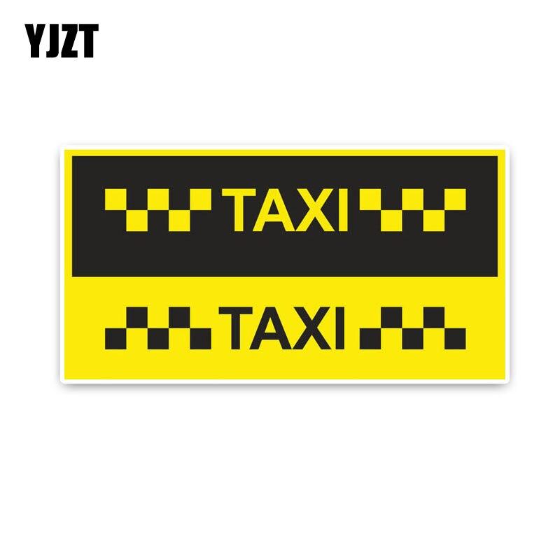 YJZT 15,1*7,9 cm letras de TAXI divertido Retro-reflectante de moda Car-styling pegatinas de coche C1-8208