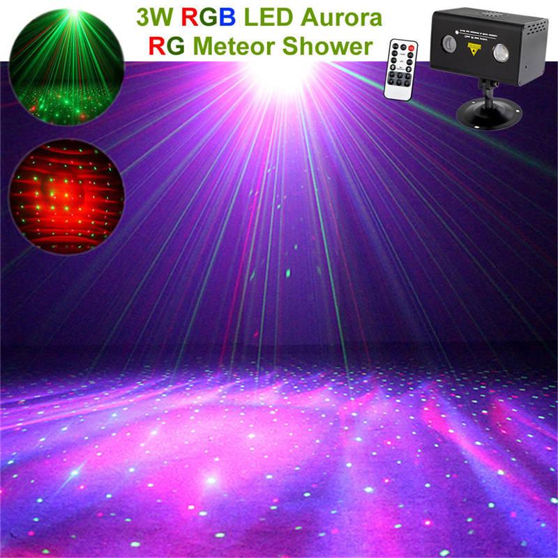 Música remota Aurora Meteor Star rojo verde Proyector láser luces RGB LED discoteca Fiesta de DJ efecto hogar Show KTV etapa iluminación lámpara