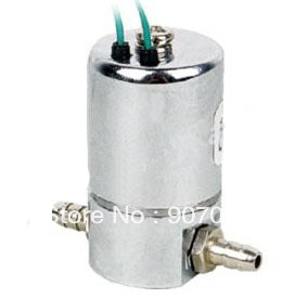 Envío gratis 10 unids/lote Mini latón médica válvula de solenoide de 1 MM poro BS22-1L con 3mm Barb manguera