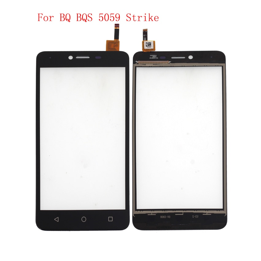 High Quality For BQ BQS 5059 Strike Touch Screen Panel Digitizer Assembly Phone Parts With Free Shipping And Tools