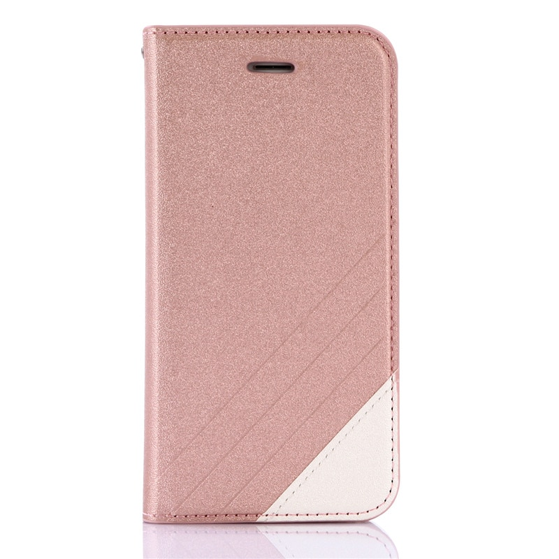 Para o iphone Caso 6S Seda Fosco Magnético Flip Carteira de Couro Da Tampa de TPU Para o iphone 6 7 8 Plus X caso Estande de Proteção Cartões de Bolso