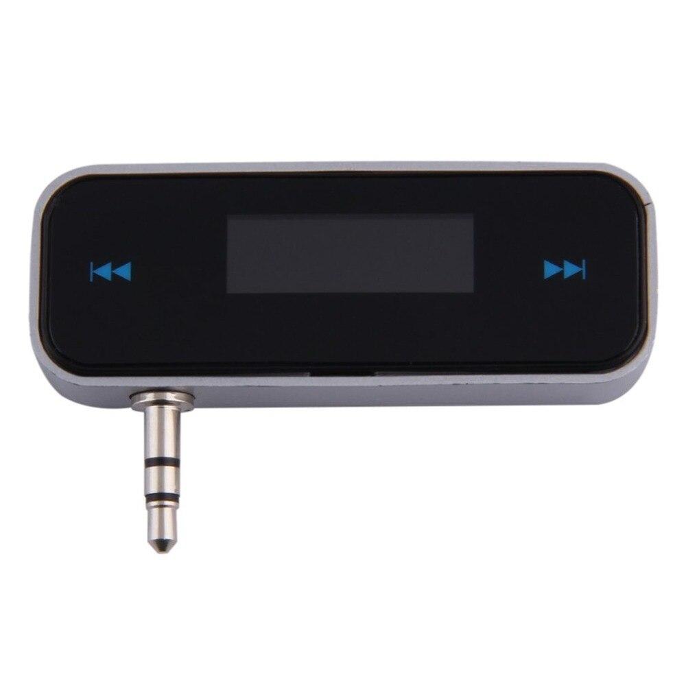 Mini 3.5mm rádio do carro sem fio música de áudio fm transmissor handsfree modulador transmissor fm com cabo lcd kit carro exibição