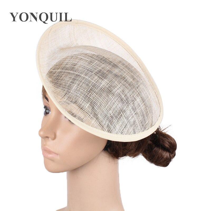 Base natural de 25 cm sinamay fascinator para fazer derby fascinators kentucky party chapéus material millinery ou 18 cores para selecionar