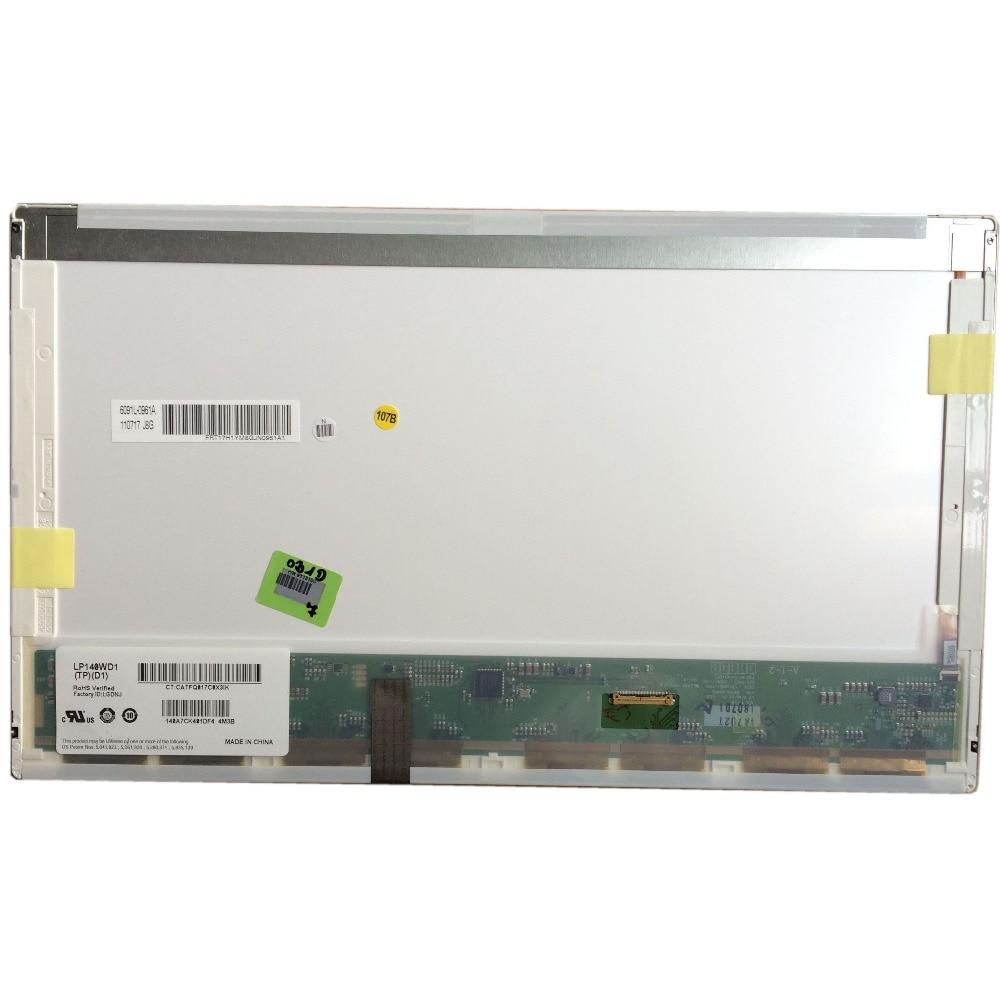 LALAWIN LP140WD1 TPD1 fit B140RW01 V.2 LTN140KT02 ل HP elitebook 8440P 8440 واط 1600*900 30PIN EDP LED LCD لوحة الشاشة