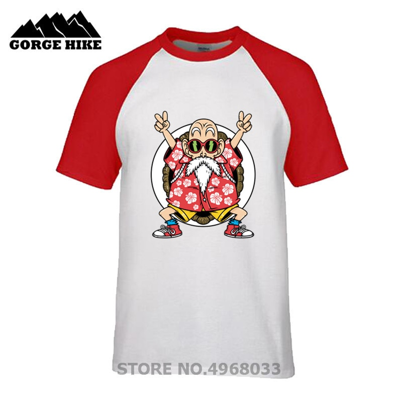 Camiseta personalizada de maestro Roshis Kame Senin Dojo, camiseta de dragon ball Z Gym para hombre, camiseta de manga corta, camisetas Super Saiyan