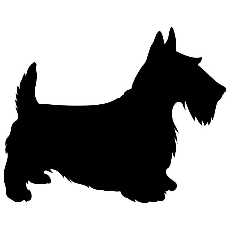 9,5*12CM Escocia perro encantador coche clásico decorativo calcomanías automotrices parabrisas trasero pegatinas personalizadas accesorios C6-0010