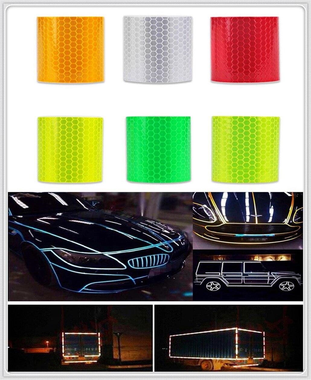 Accesorios de coche pegatina reflectante calcomanía cinta de advertencia película para Toyota V Hilux Land Cruiser alianza Carina Celica Corona
