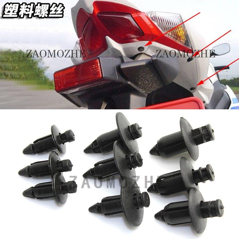 Porte-faitout dextérieur moto sport   1 pièce autocollant, vis dextension en plastique, boucle de carte pour Kawasaki