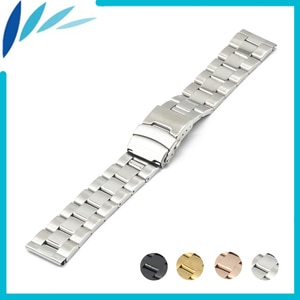 Stainless Steel Watch Band 18mm for Withings Activite / Steel / Pop Safety Clasp Strap Loop Belt Bracelet Black Rose Gold Silver