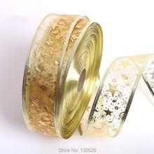 Accessoires de décoration darbre de noël ruban 5 étoiles   Bande musicale, décor de maison de noël, fournitures pour fête événement