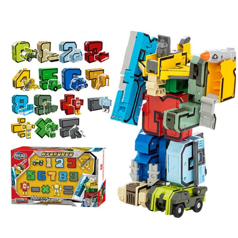 GUDI 15 en 1 creativo ensamblaje de figuras de acción educativas transformación Robot deformación avión bloques de construcción de automóviles juguete