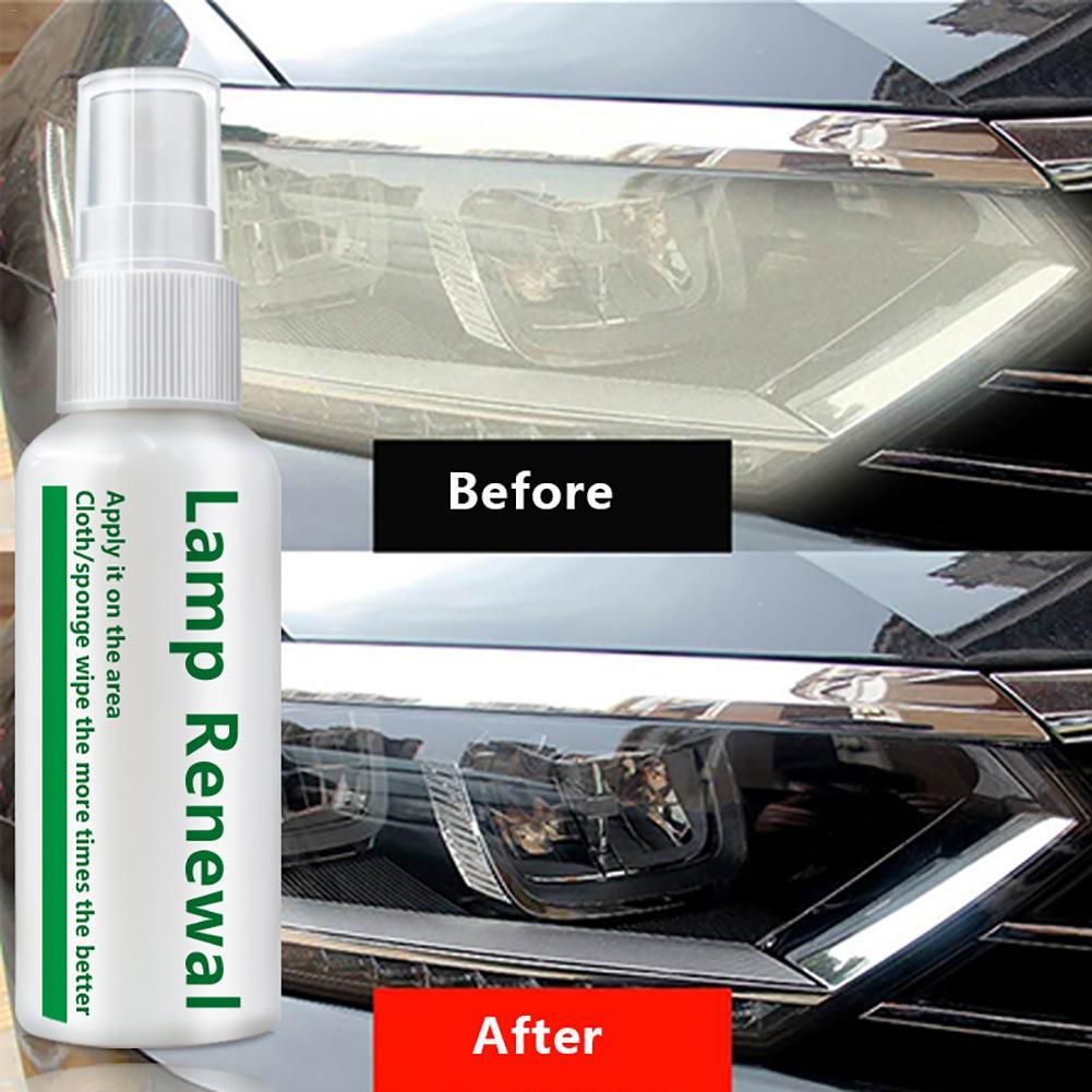 Nuevo 2019 20 ml/50 ml faro líquido de coche de recauchutado agente de reparación de la esencia para arañazos oxidación amarillenta borrosa