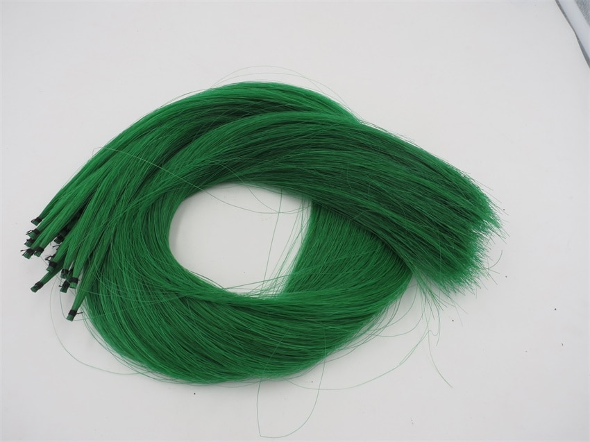 250g 85cm Green Mongolia Horse Hair Tail violin bow Tassels Decoration