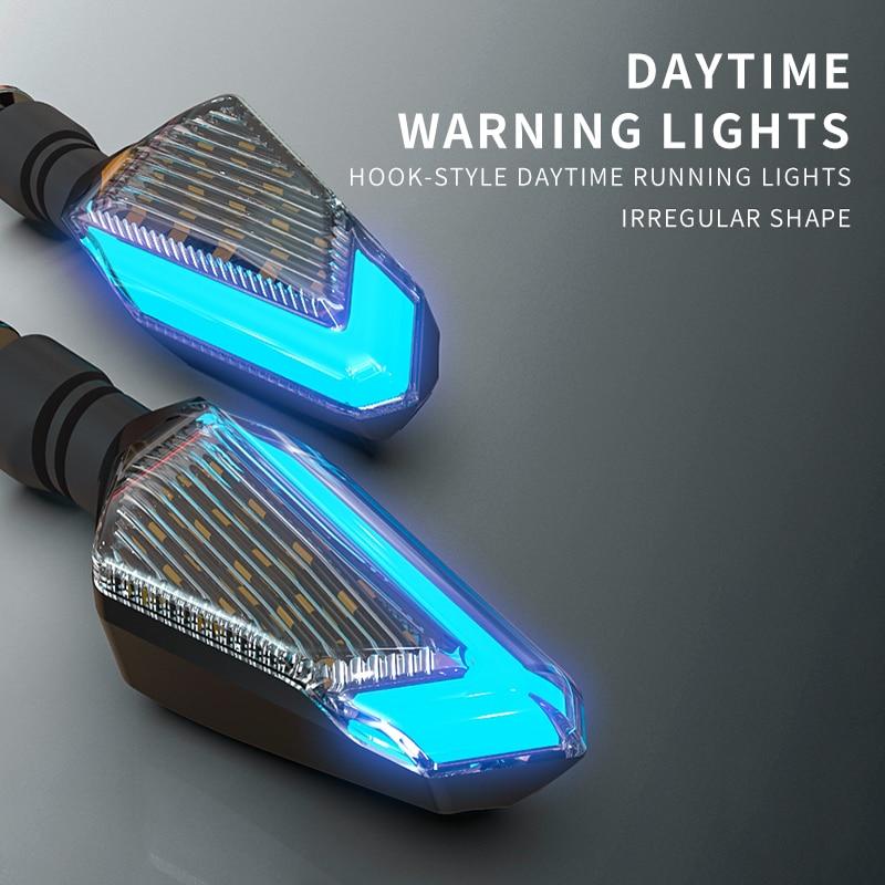 Luces de señal de la motocicleta SPIRIT BEAST, accesorios de dirección de la motocicleta, luces diurnas LED de señal de giro, lámpara de punta de flecha de brillo