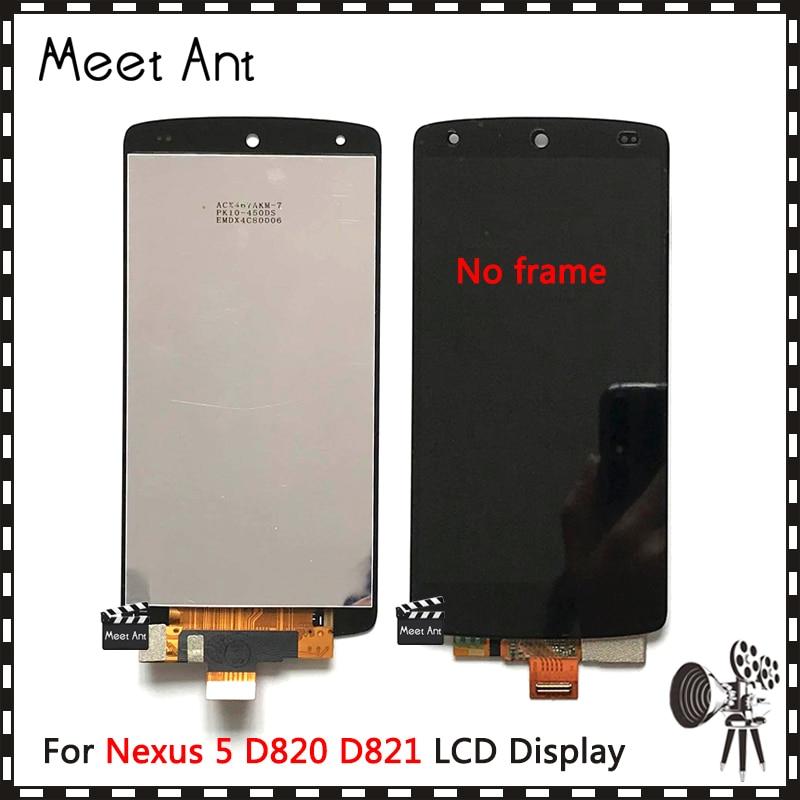 Alta calidad 4,95 para LG Google Nexus 5 D820 D821 pantalla LCD con montaje de digitalizador de pantalla táctil