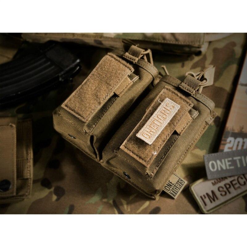 Onetigris open-top duplo rifle/pistola compartimento bolsa tático ar/ak/g36/glock/m1911/92f mag bolsa para airsoft paintball