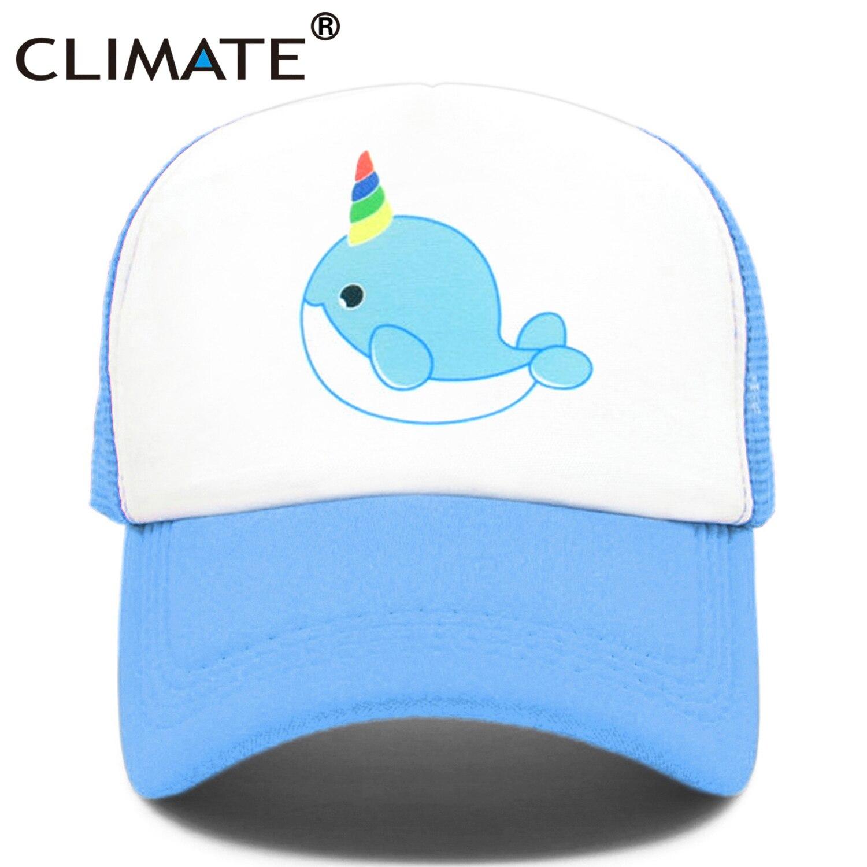 El clima de narval camionero sombrero narval gracioso ballena lindo gorras de verano fresco Hip Hop de malla gorras sombrero para los hombres las mujeres jovencita