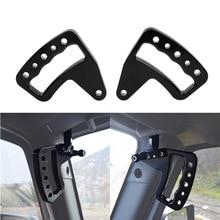 WHDZ черный алюминиевый поручень Передняя ручка для Jeep Wrangler JK JKU 2007-2017 безлимитный Rubicon Sahara Sport 2/4 дверная пара