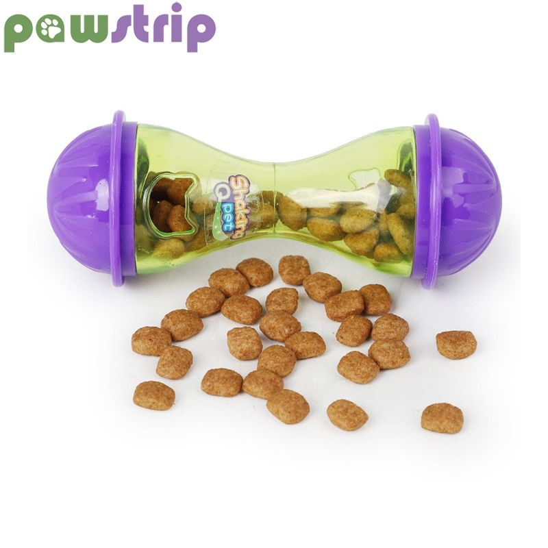 Pawstrip, 1 unidad, vaso para mascotas, juguetes para perros, dispensador de alimentos, Bola de escape, hueso, juguetes para gatos, tazón de alimentación lenta para perros, accesorios de entrenamiento 11*4