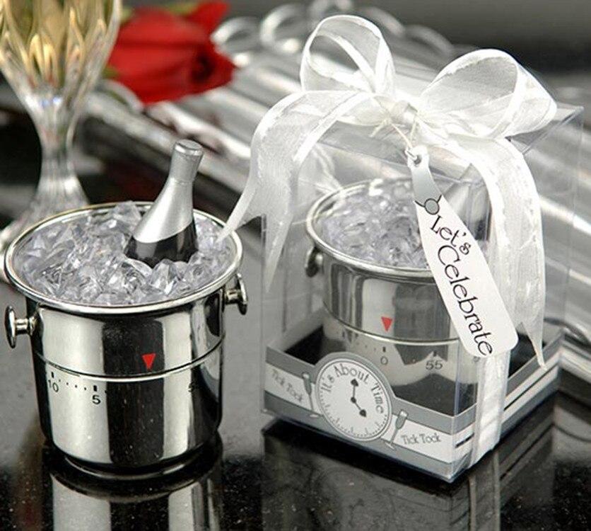 Envío gratuito 200 Uds creativa fiesta en casa Favor champán temporizador de cubo nupcial ducha cumpleaños boda Favor Detalles