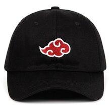 100% algodão japonês akatsuki logotipo anime naruto pai chapéu uchiha logotipo da família bordado bonés de beisebol preto snapback chapéus dropship