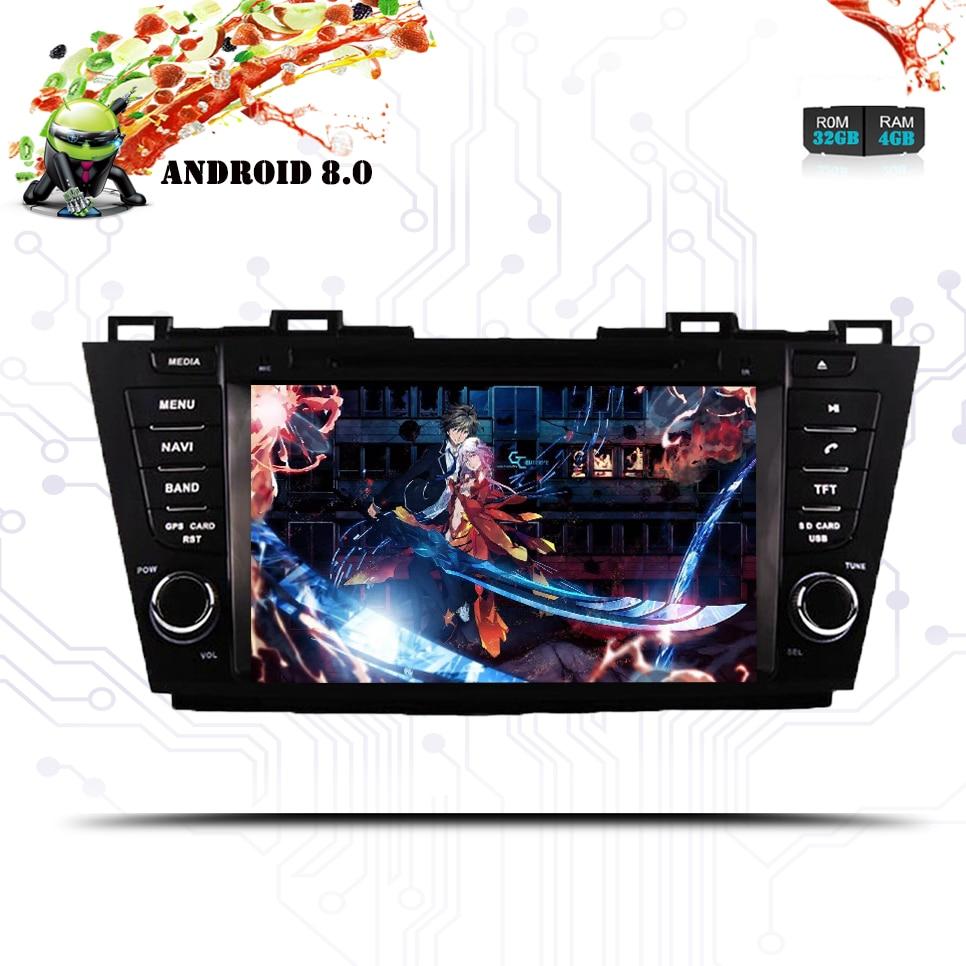 "8 ""Android 10,0 Octa Core 4GB RAM 1024*600 coche DVD radio Estéreo reproductor DAB para Mazda 5 Premacy 2009, 2010, 2011, 2012 de Bose"
