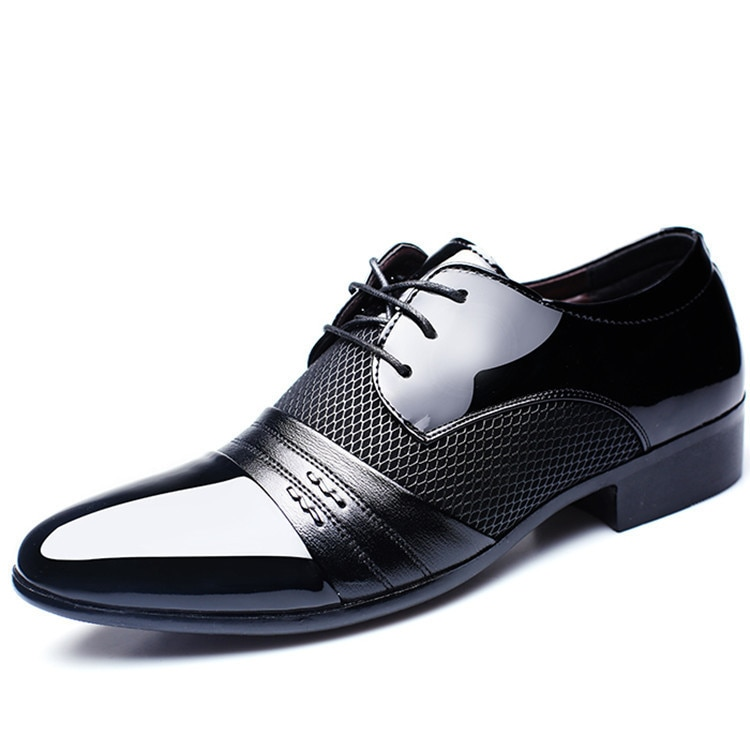 Commerce Men Shoes Formal Dance Crocodile Man Ventilation Sneaker Leather Male Dress Pointed Sports