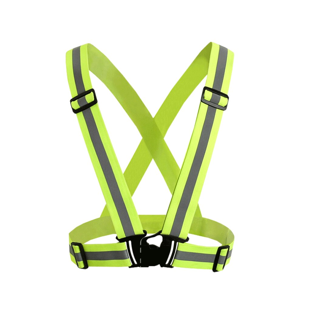 Alta visibilidade neon reflexivo cinto colete de segurança apto para correr ciclismo esportes