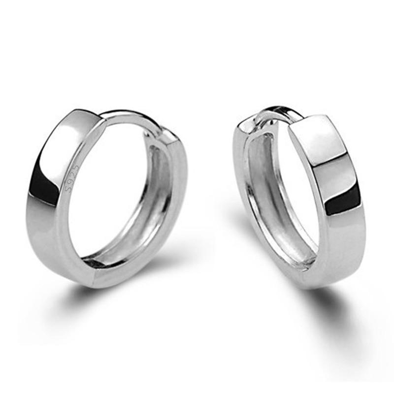 XIYANIKE 925 Sterling Silver Smooth Men And Women Models Silver Earring For Women Earring Sterling-s