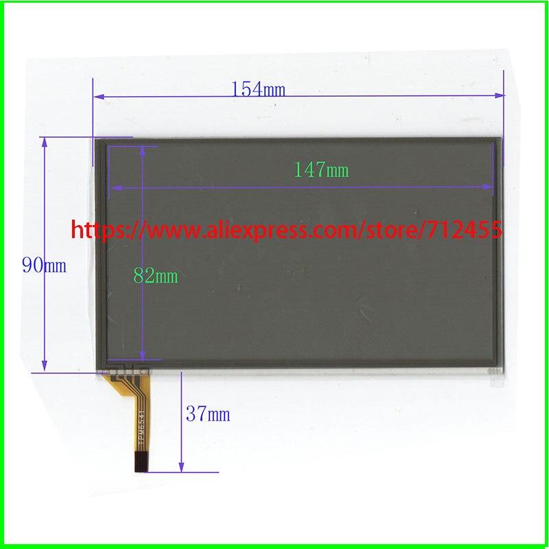 6.4 polegada 154*90mm de navegação do carro DVD painel de toque digitador de vidro para o público RCD510