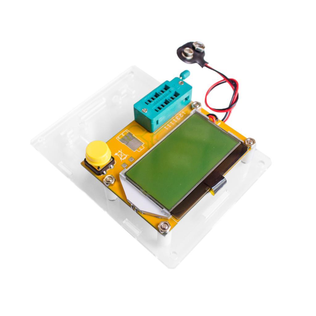 Диодный триодный измеритель емкости ESR MOS PNP, тестер транзисторов с ЖК-дисплеем, Mega328, Транзисторы, диоды, акриловый корпус