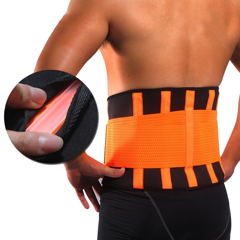 Women Men Waist Trimmer Belt Lumbar Back Support Brace Fitness Weightlifting Belt Adjustable Abdomin
