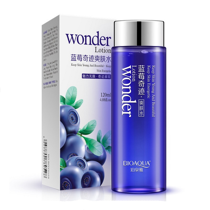 Bioaqua Blueberry miracle glow wonder Face Toner Makeup water Smooth Facial Toner Lotion oil control pore moisturizing skin care