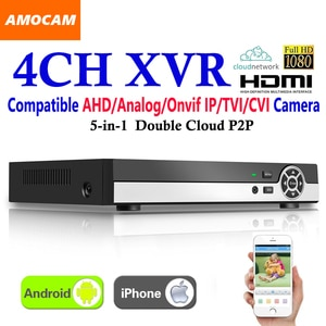New 4CH Super XVR All HD 1080P 5-in-1 DVR CCTV Surveillance Video Recorder HDMI output with AHD/Analog/Onvif IP/TVI/CVI Camera