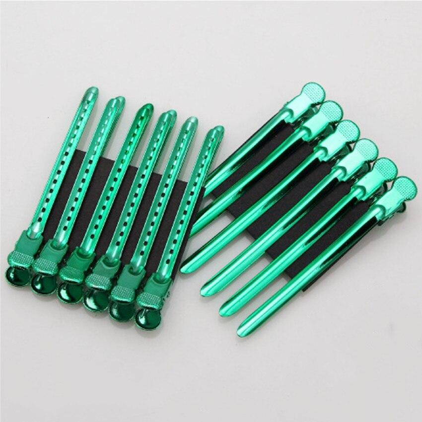 12 unids/set nuevo clip de acero inoxidable de color de peluquería corte de pelo boca de pato pinza de maquillaje horquillas pinzas para el cabello para niñas