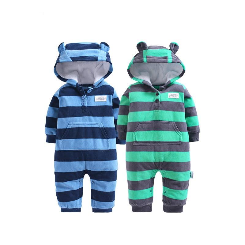 Одежда для детей, весенне-осенняя одежда для маленьких мальчиков, флисовый комбинезон детский костюм с капюшоном для маленьких девочек