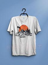 2019 été marque adultes T-Shirt décontracté chemise Vintage 90 S egypte pyramides à gizeh t-shirt Kleopatra Empire tourisme doux coton t-shirt