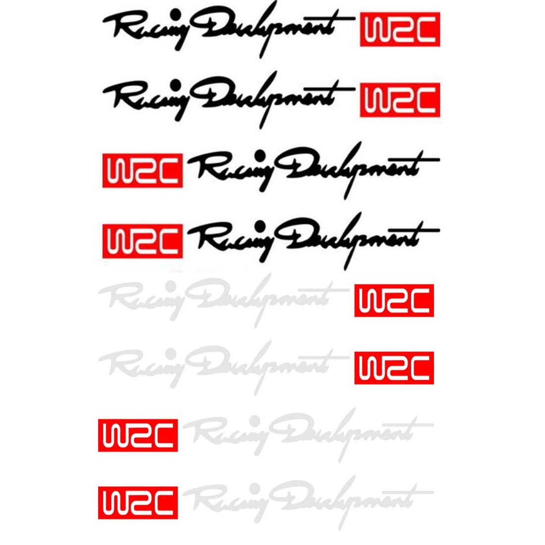 Dewtreetali Heißer Verkauf WRC Racing Türgriff Aufkleber Decals Für BMW MINI Audi VW Volkswagen Skoda Peugeot Citroen Renault 4 pcs/s