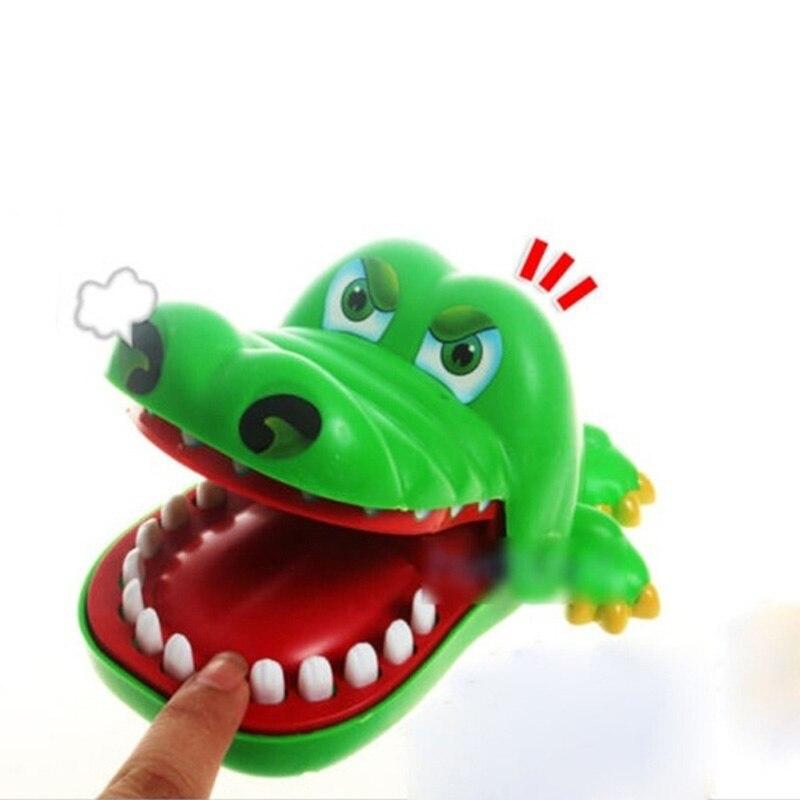 Zabawna sztuczka Cartoon krokodyl zabawki usta dentysta ugryzienie gra z palcami Gags nowość gra rodzinna zabawka dla dzieci dzieci