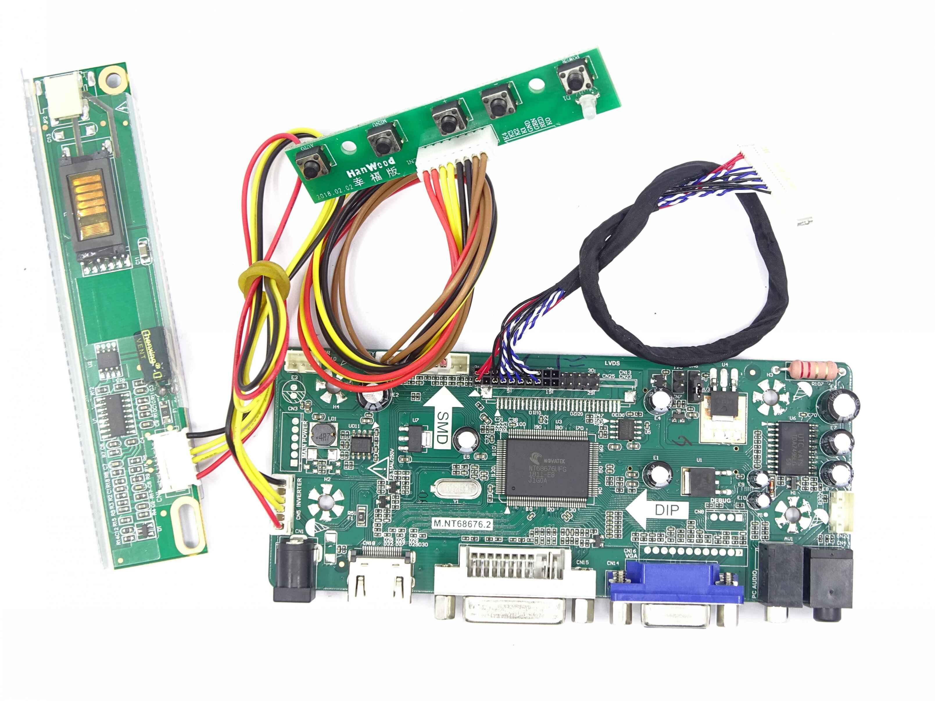 "Kit for LP171WP4-TL03 Signal VGA 30pin Controller board 17.1"" DVI 1 lamps LVDS Panel monitor Driver screen 1440X900"
