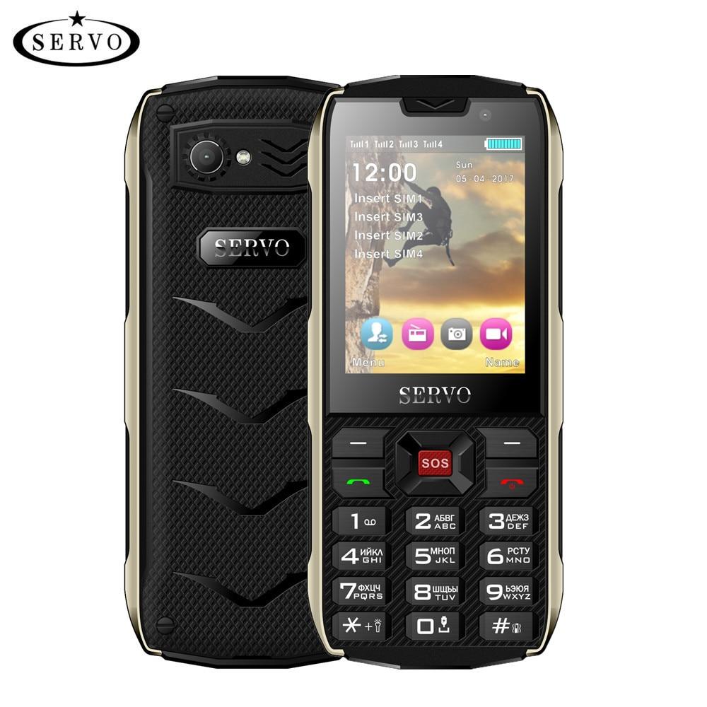 SERVO H8 Mobile Phone 2.8inch 4 SIM card 4 standby Bluetooth Flashlight GPRS 3000mAh Power Bank Phon