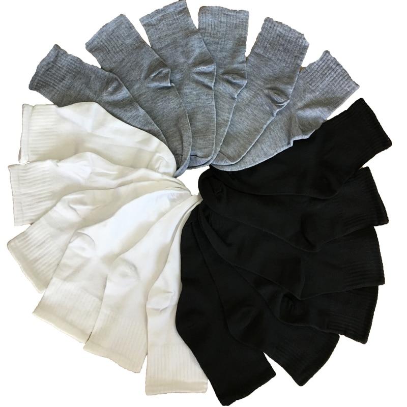 Black Gray White Socks Male Socks Men Cotton Elasticity Business Socks Long Crew Autumn Winter Warm Meias Homens 10pcs 5pair/lot