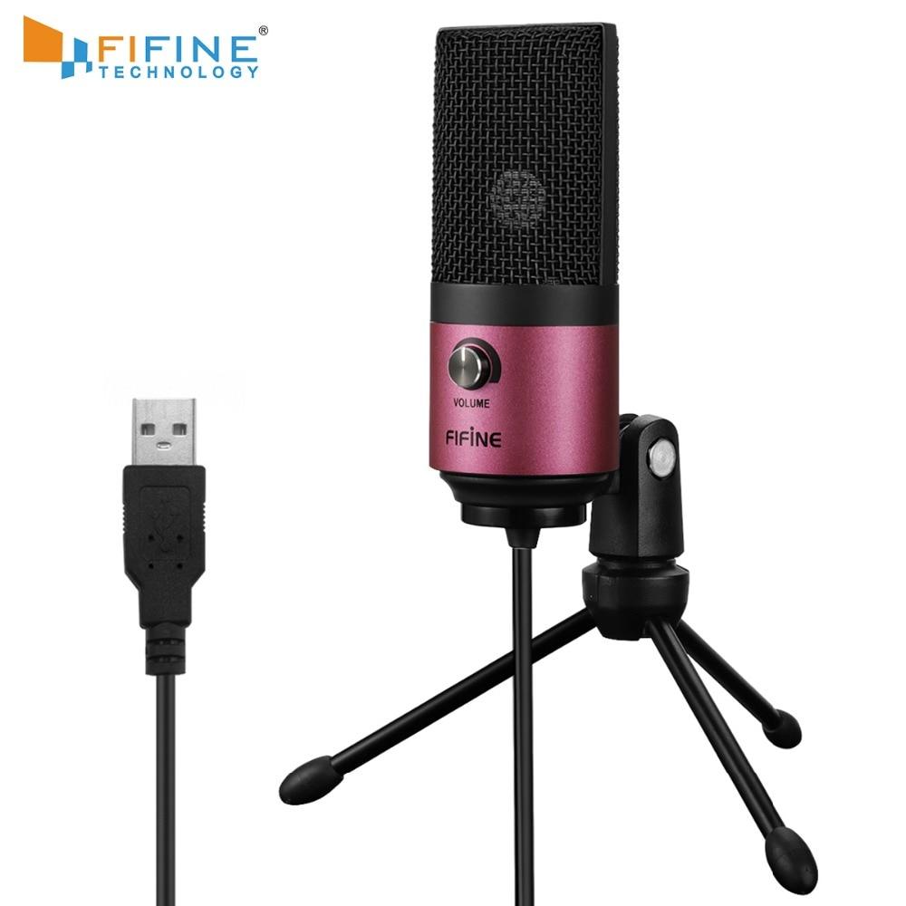 USB MIC Fifine Desktop Condenser Microphone for YouTube Videos Live Broadcast Online Meeting Skype suit for Windows Laptop k669