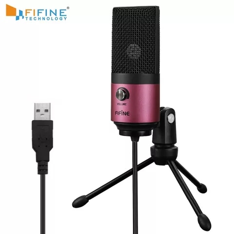 USB Mic Fifine Condenser Microphone for YouTube Video Live Broadcast Online Meeting Skype for Windows Laptop K669